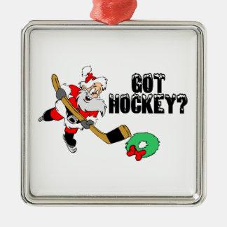Hockey Christmas Metal Ornament