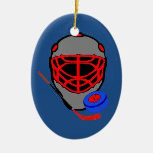 hockey christmas ornaments mask stick puck - Hockey Christmas Ornaments