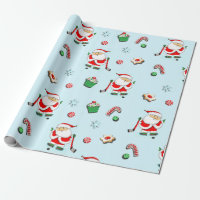 Hockey Christmas Wrapping Paper