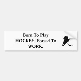 hockey_clipart, llevado para jugar al HOCKEY, forz Pegatina Para Auto