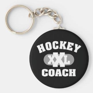 Hockey Coach Basic Round Button Keychain
