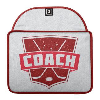 Hockey Coach Red Shield Macbook Cover