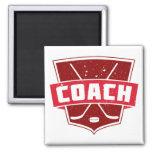 Hockey Coach Retro Style Shield Fridge Magnet