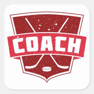 Hockey Coach Retro Style Shield Sticker