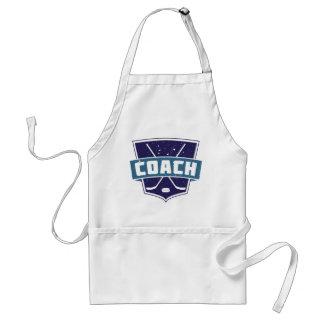 Hockey Coach Shield Design Apron
