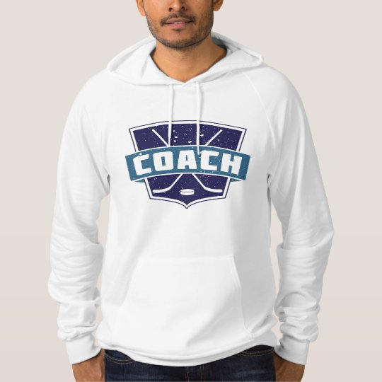 Hockey Coach Shield Design Hoodie