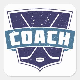 Hockey Coach Shield Stickers