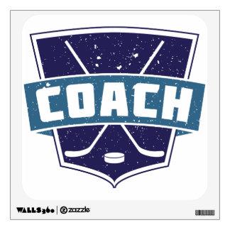 Hockey Coach Shield Wall Decal