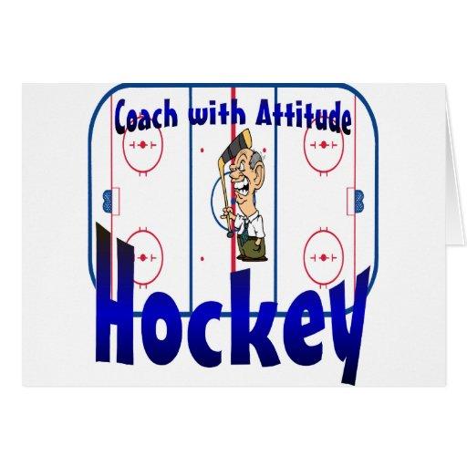 Hockey Coach With Attitude Greeting Card