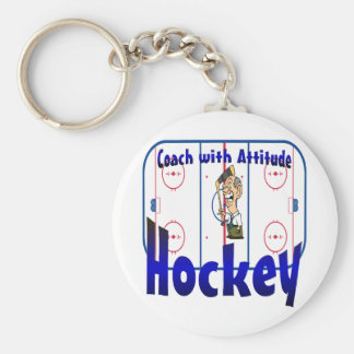 Hockey Coach With Attitude Keychain