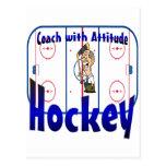 Hockey Coach With Attitude Postcard