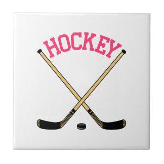 Hockey Cross Sticks Tile