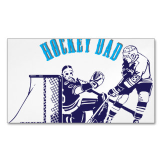 Hockey Dad Business Card Magnet