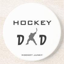 HOCKEY DAD DRINK COASTER. $10.55 - HOCKEY DAD DRINK COASTER. by hockeyjunky