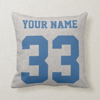 Hockey Dad Customizable Name and Number Pillow