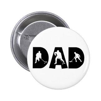 Hockey Dad Gift 2 Inch Round Button