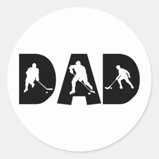 Hockey Dad Gift Classic Round Sticker