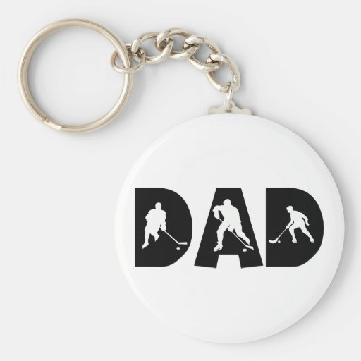 Hockey Dad Gift Keychain