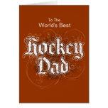 Hockey Dad Greeting Card