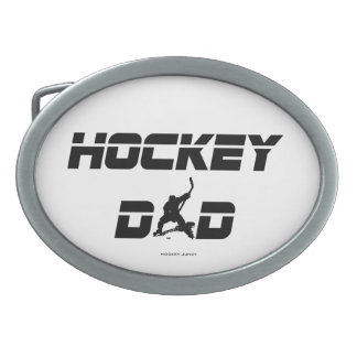 HOCKEY DAD OVAL BELT BUCKLE