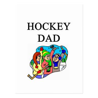 hockey dad postcard