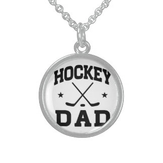 Hockey Dad Sterling Silver Necklace
