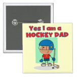 Hockey Dad T-shirts and Gifts Pinback Button