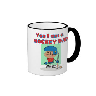 Hockey Dad T-shirts and Gifts Ringer Coffee Mug