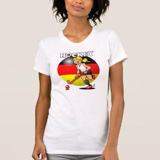 Hockey Dame des deutschen Feldhockey -Team. T-Shirt