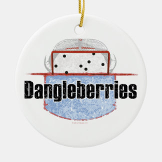 Hockey Dangleberries Ceramic Ornament