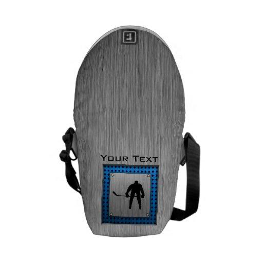 Hockey de aluminio cepillado de la mirada bolsas de mensajería