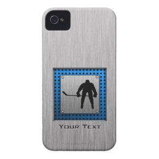 Hockey de aluminio cepillado de la mirada iPhone 4 fundas