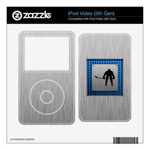Hockey de aluminio cepillado de la mirada calcomanía para iPod video 5G