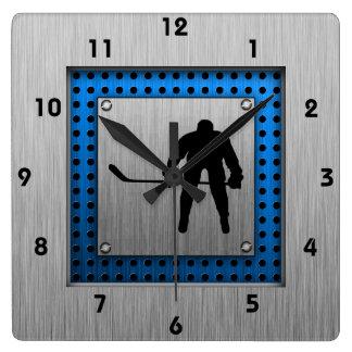 Hockey de aluminio cepillado de la mirada reloj