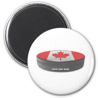 Hockey de Canadá Imán Redondo 5 Cm