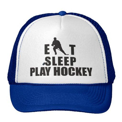 Hockey de Eat Sleep Play Gorras