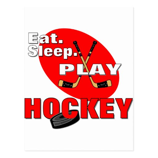 Hockey de Eat Sleep Play Postal