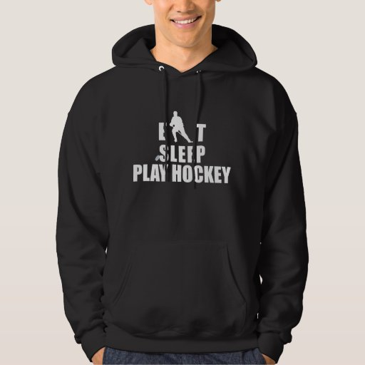 Hockey de Eat Sleep Play Sudaderas Con Capucha