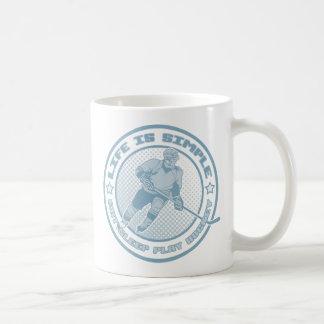 Hockey de Eat Sleep Play Tazas De Café