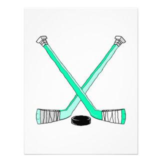 Hockey de la aguamarina invitacion personal