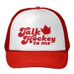 Hockey de la charla a mí gorro de camionero