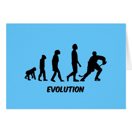 hockey de la evolución tarjeta de felicitación
