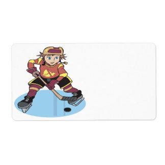 Hockey de la juventud etiqueta de envío