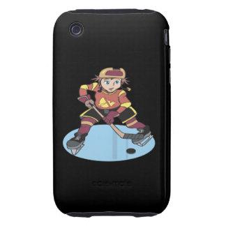 Hockey de la juventud tough iPhone 3 protectores