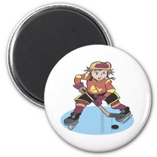 Hockey de la juventud imán redondo 5 cm
