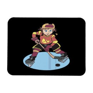 Hockey de la juventud rectangle magnet