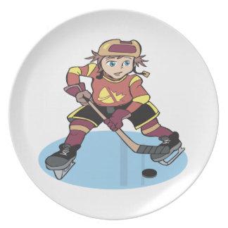 Hockey de la juventud platos para fiestas