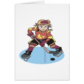 Hockey de la juventud tarjeta de felicitación