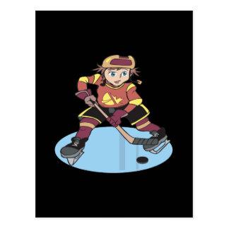 Hockey de la juventud tarjetas postales