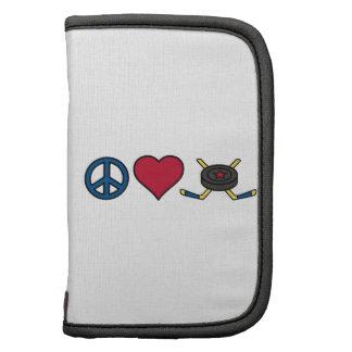 Hockey de la paz del amor organizadores
